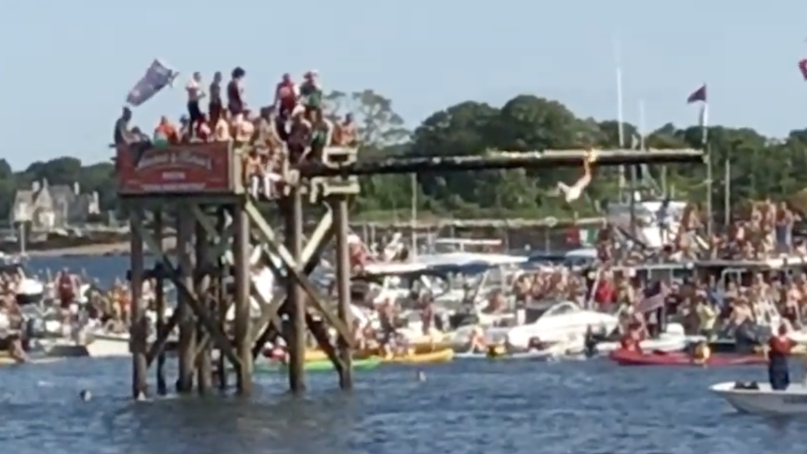 A Brief Video of the 2017 Greasy Pole Contest in Gloucester