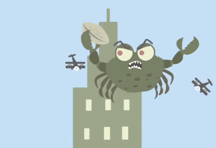 A Cleverly Animated Green Crab Story